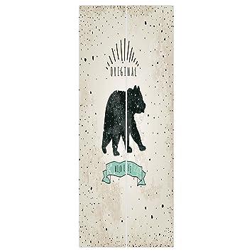 Amazon Com 3d Door Wall Mural Wallpaper Stickers Bear Vintage