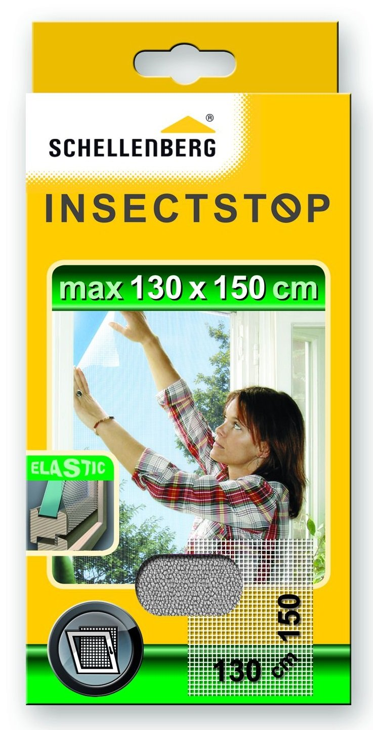 Schellenberg 51003 130 x 150 cm Elastic Insect Screen - White