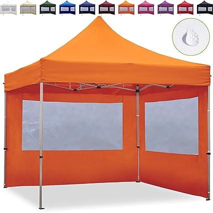 3x3m Faltpavillon Faltzelt ALU Pavillon Partyzelt mit 2 Seitenteilen creme