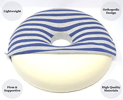 Cascadia Essentials Donut Pillow Hemorrhoid Cushion W 100 Cotton Cover Non Slip Orthopedic Memory Foam Seat Cushion For Coccyx Pregnancy