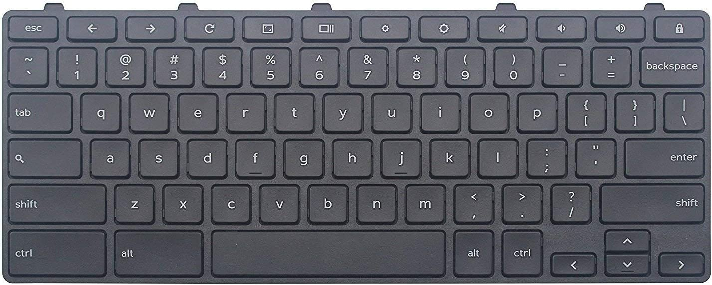 New US Black English Laptop Keyboard (with Black Frame) Replacement for Dell Chromebook Inspiron 11 3181 11-3181 P26T P26T002