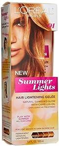L'Oreal Paris Summer Lights Hair Lightening Gelee, Dark Blonde to Light Brown 3.4 oz (Pack of 4)