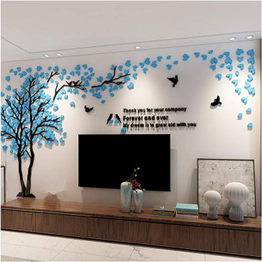 3d Flower Pattern Acrylic Wall Sticker Tv Background Decoration Large Size