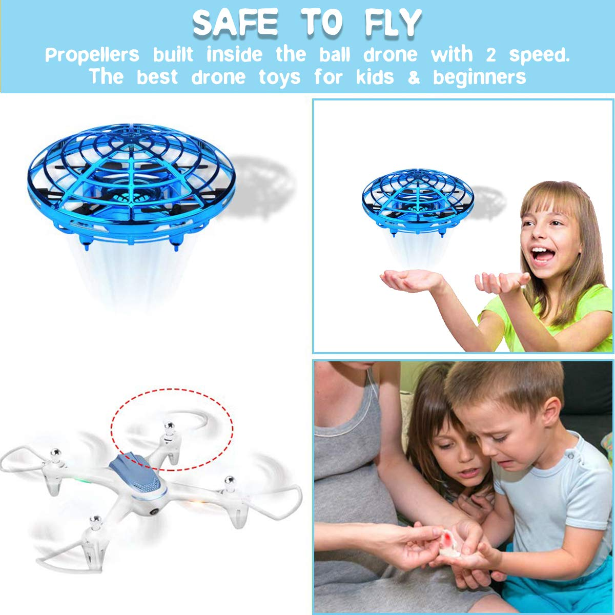 JIAMA Flying Ball, Mini UFO Drone Bola voladora RC Flying Juguetes ...