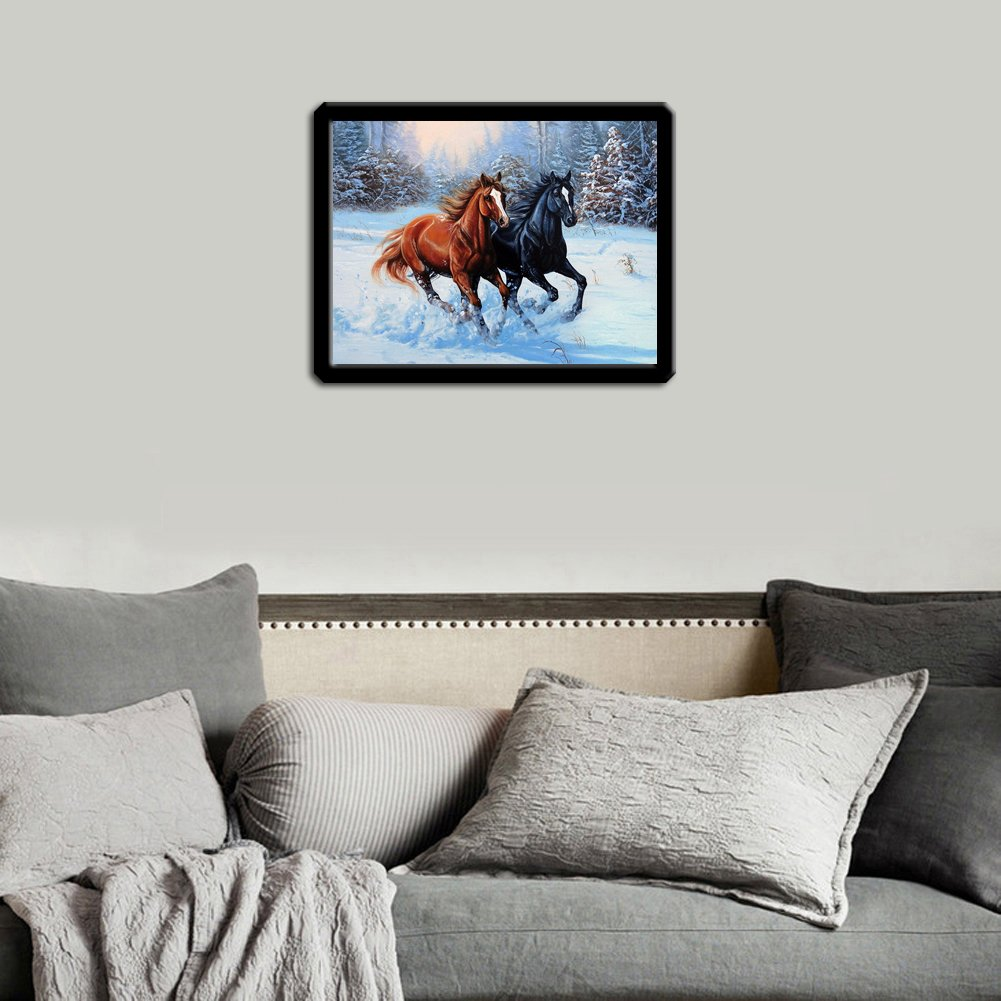 Broadroot Sea Horse 5D Diamond Embroidery Painting Cross Stitch DIY Craft Home Decor
