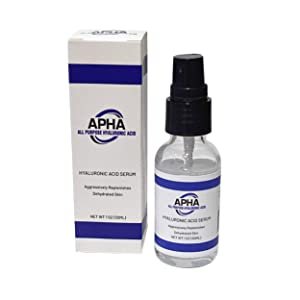 APHA All Purpose Hyaluronic Acid (1oz) for Face - 100% Pure Medical Quality Clinical Strength Formula - Anti aging formula for your skin