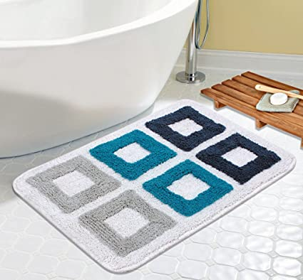 Saral Home Soft Cotton Bathmat -40x60 cm, Blue