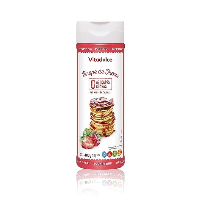 Sirope de fresa sin azúcar, Sirope bajo en calorías, Topping de ...