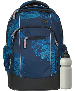 16ce0dbb6261c Syderf Schulrucksack NAPS mit Trinkflasche - versch. Farben (Unikat in  Pacific Blau)