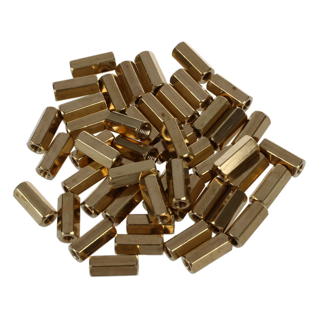 SODIAL(R) 50 Pcs Hexagonal 11mm Length M3 Female Thread PCB Standoff Spacers
