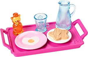 Barbie Accessories Packs, Breakfast, Spa or Pet Puppy Theme with 4 to 6 Pieces