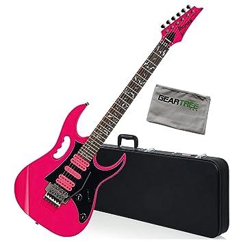 Ibanez JEMJRSPPK Steve Vai Signature - Guitarra eléctrica (incluye ...