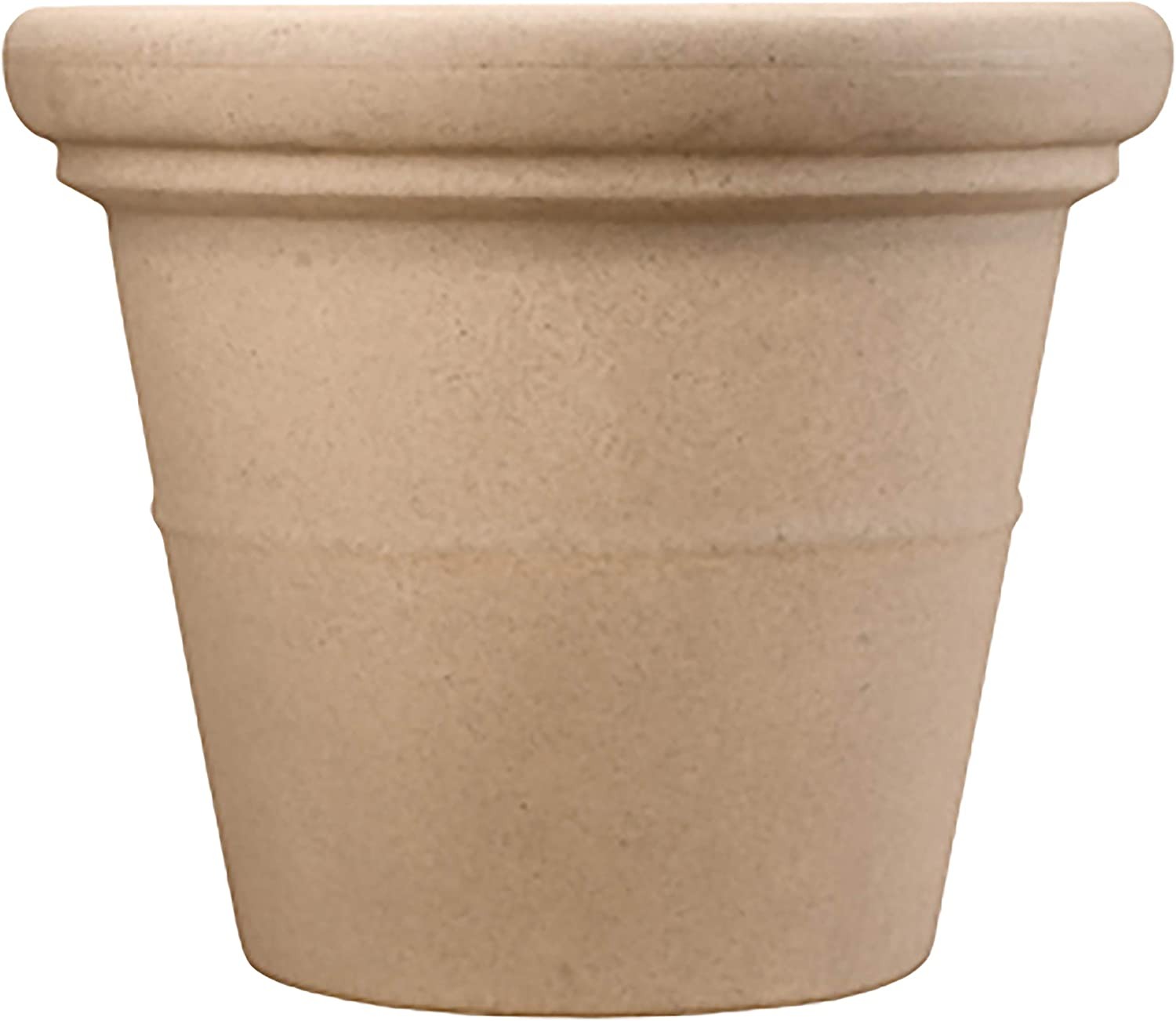 Terrazzo Round Planter Pot The Hc Companies 30 Decorative Flower Pot Planters For Houseplants Pairs W 30 Sandstone Terrazzo Saucer Stz30000a34 Sandstone Tea30000a34 Sandstone Flower Pot Garden Outdoor Amazon Com