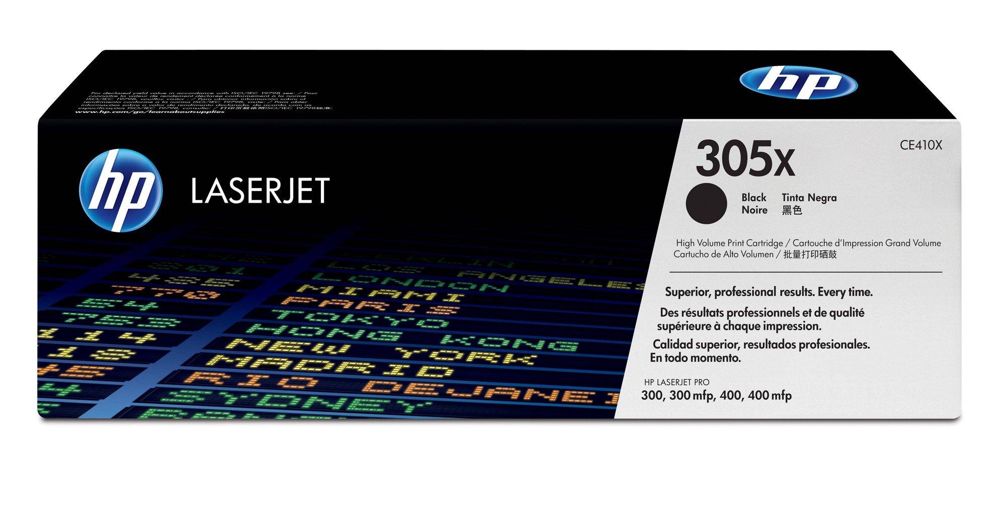 HP 305X (CE410X) Black High Yield Cartridge by HP