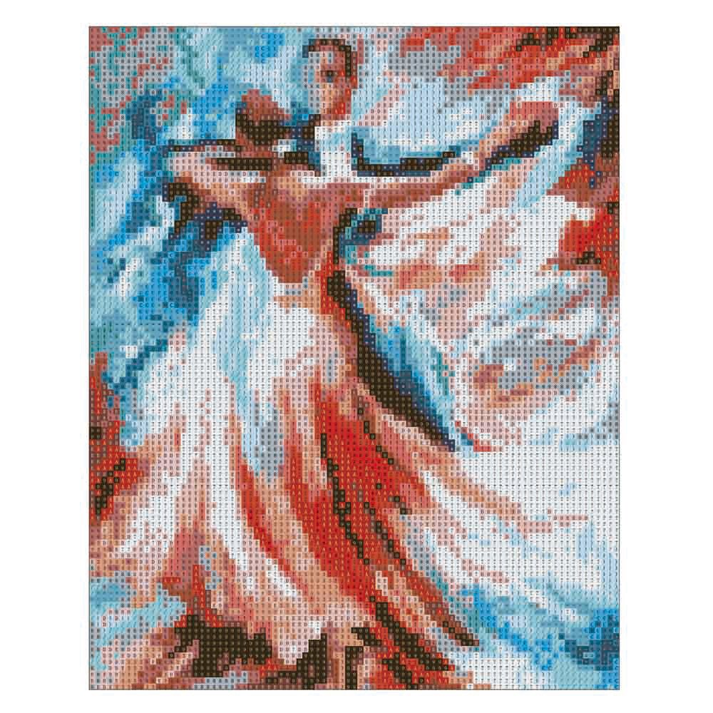 Sttech1 DIY 5D Diamond Painting by Number Kits, Classic Tango Dance Diamond Embroidery Paintings Pictures Arts Craft for Wall Stiker Home Decor (Dance) by Sttech1 (Image #4)