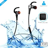 ZAAP AQUA MAGNETO Bluetooth Waterproof Headphone + Free Carry Case, IP-X5 Wireless 4.1 Bluetooth Technology, Magnetic Earbuds, Universal Compatibility Secure Fit for Sports,