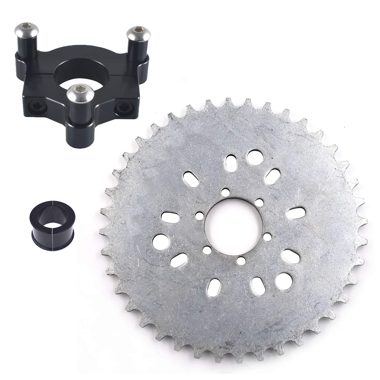 1.5 38mm CNC Adapter 44T Sprocket Fits 80cc Motorized Bicycle Supermotorparts 1 25mm