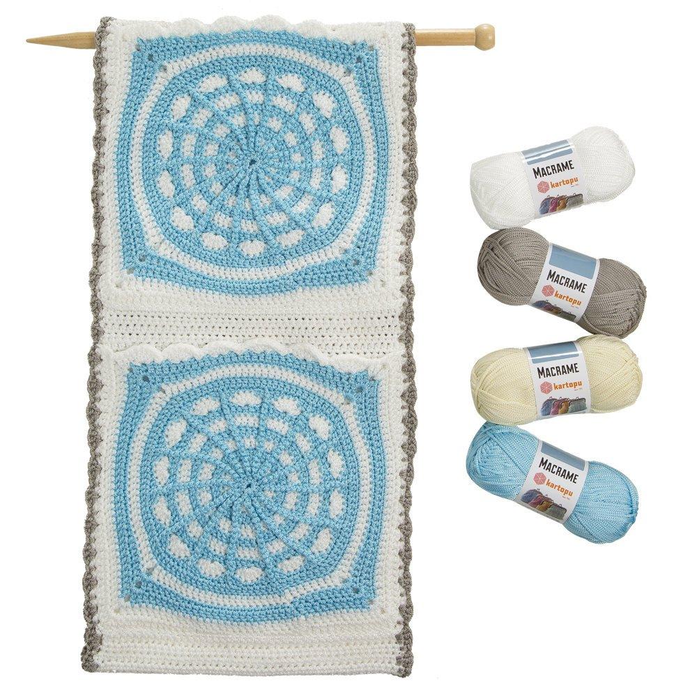 3 Skein Macrame Cord Rope Total 10.5 Oz (300gr)/492 yrds (450m), Handmade Decorations, Knitting, Craft Making Cord, Grey-K920