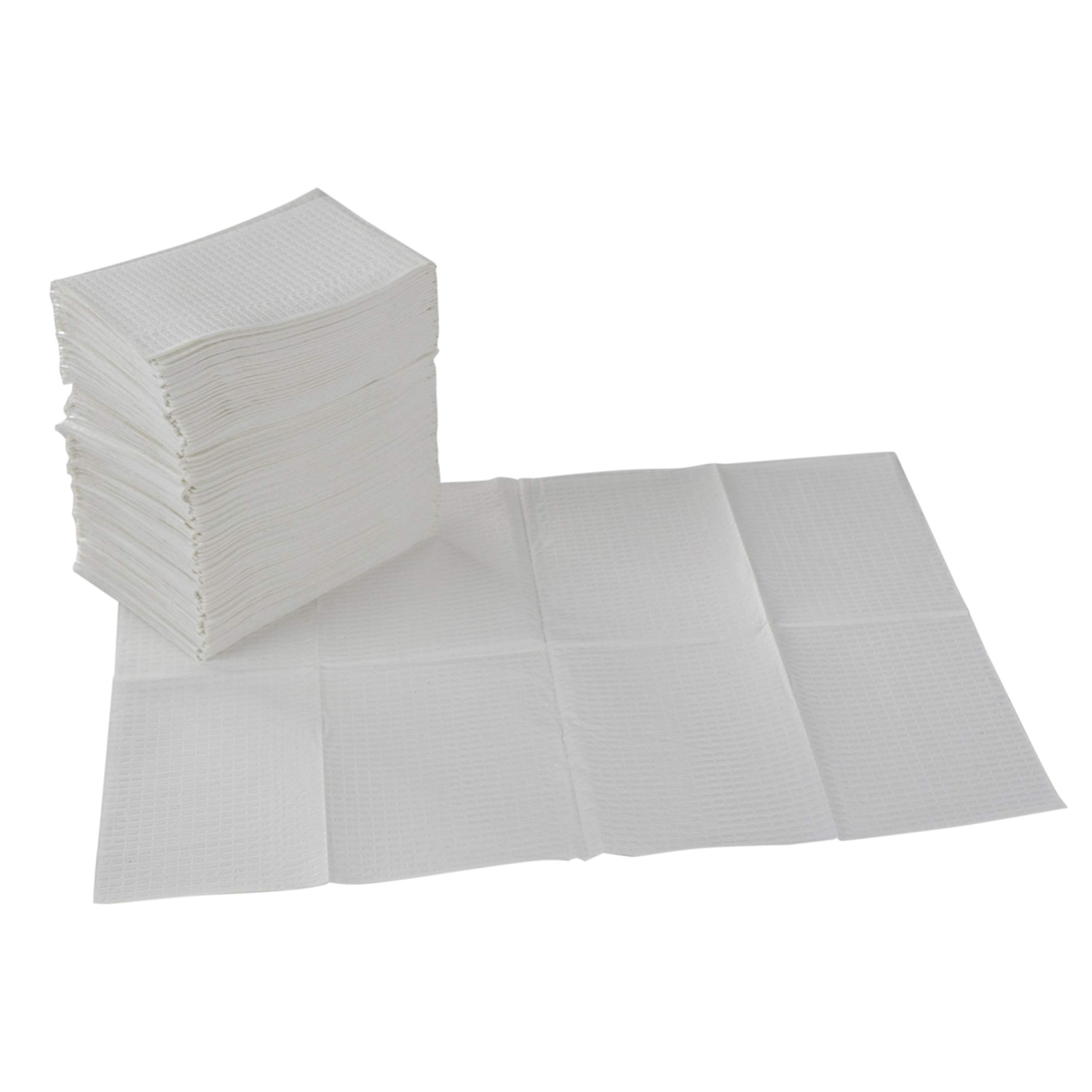 ECR4Kids 2-Ply Tissue and Poly Disposable Sanitary Liner for Baby Changing Stations, Dental Bibs, Tattoo Shops, and Senior Care, 18'' x 13'', 500-Pack - White by ECR4Kids