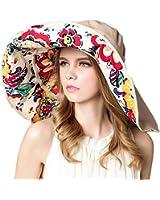 Gellwhu Women's Large Wide Brim Sun Hat Big Floppy Fishing Hat Bucket Hat