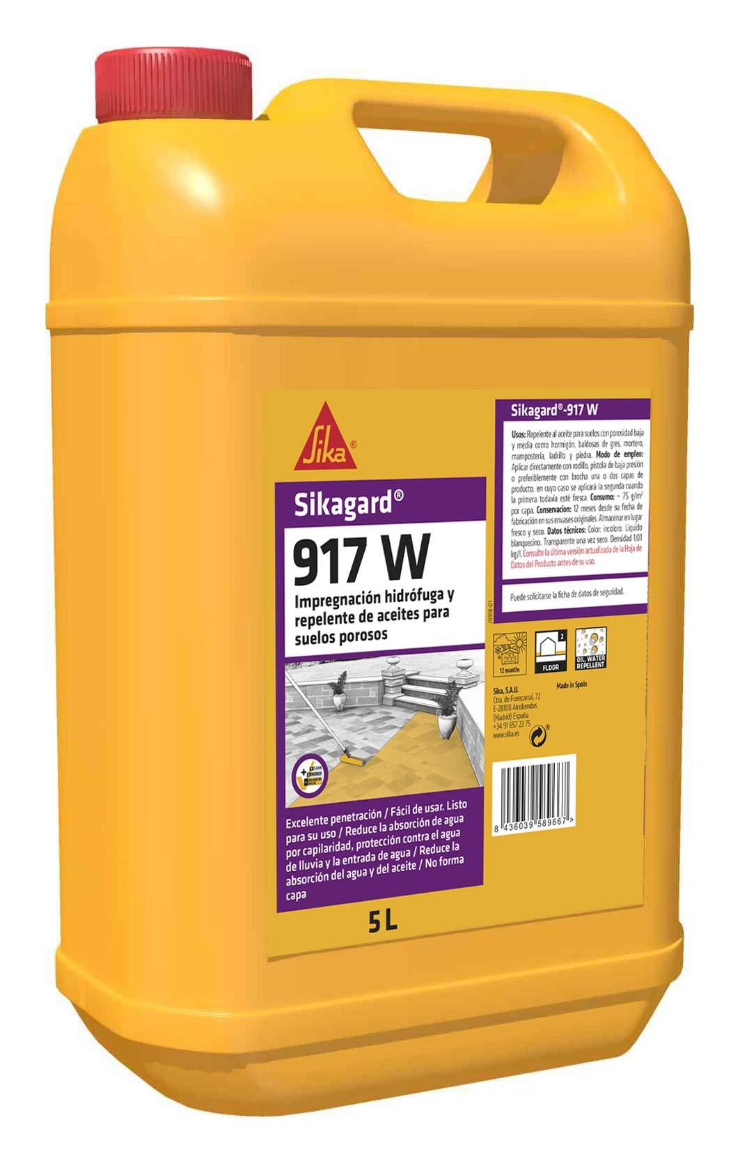 Sika 177230 Impermeabilizante para Suelos, Blanco, 5 L product image