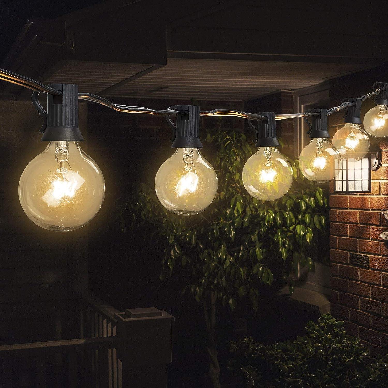 25//50//100FT Waterproof G40 Globe Bulbs Patio Hanging String Lights Outdoor Light