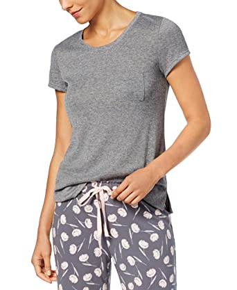 Alfani Scoop-Neck Pajama Top Urban Grey Large