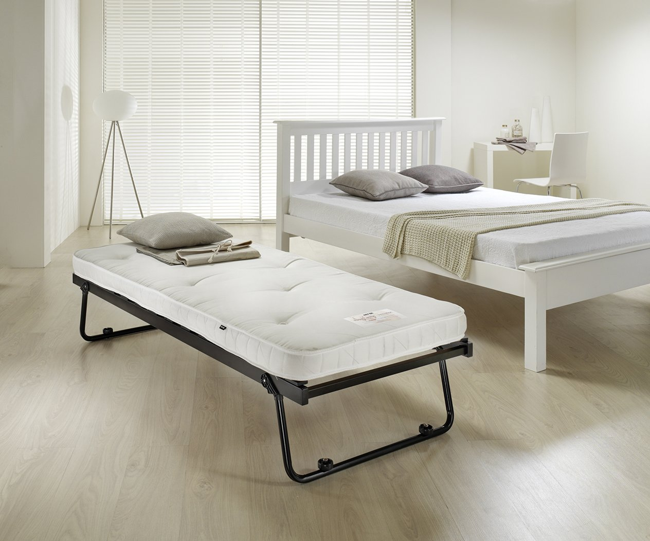 Hideaway Guest Bed Jay Be Tuckaway Single Rollaway Bed With Pocket Sprung Mattress