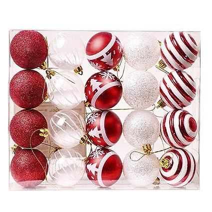 Plastik Christbaumkugeln.Valery Madelyn Weihnachtskugeln 20 Stucke 6cm Plastik Christbaumkugeln Weihnachtsdeko Mit Aufhanger Weihnachtsbaumschmuck Fur Weihnachten Dekoration