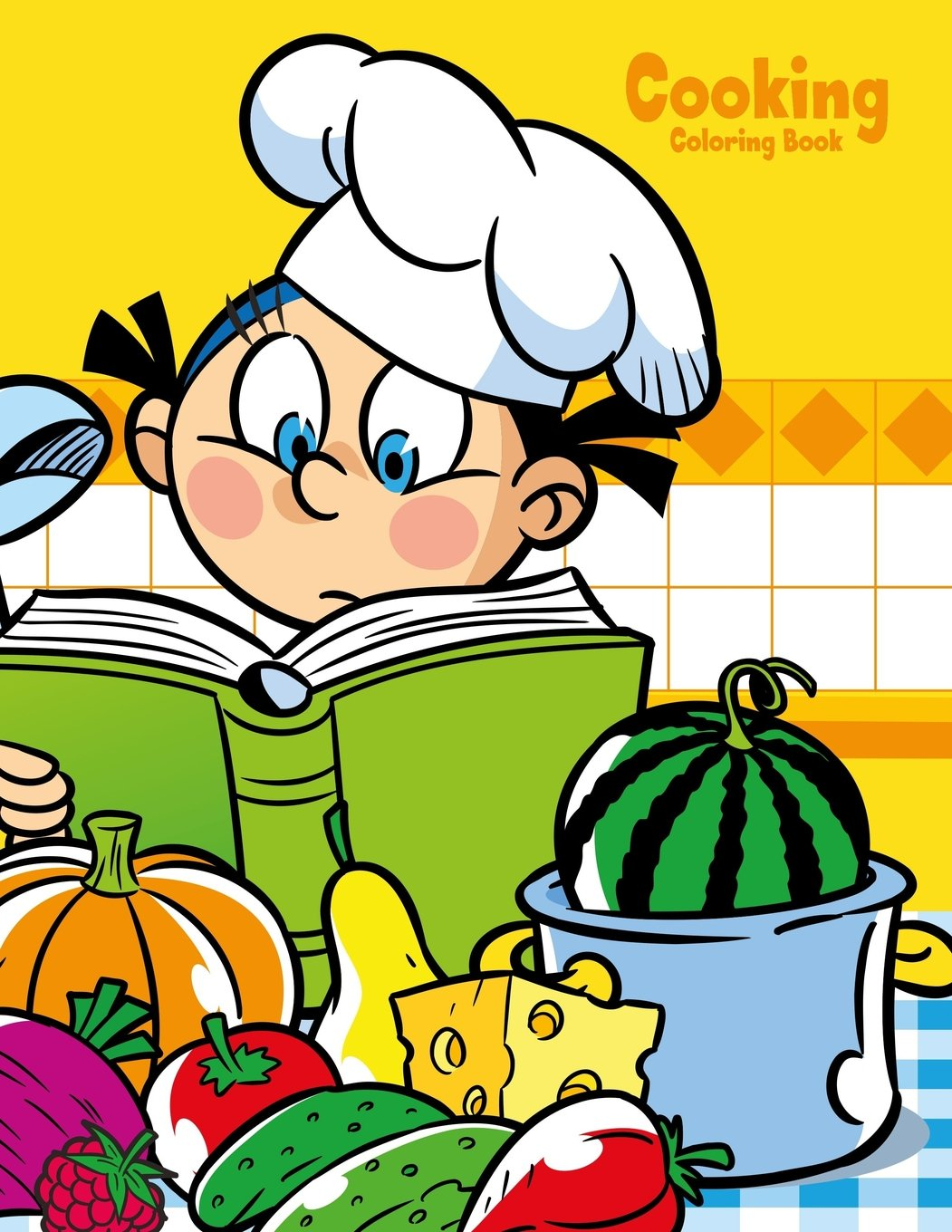 - Cooking Coloring Book 1 (Volume 1): Nick Snels: 9781986627566