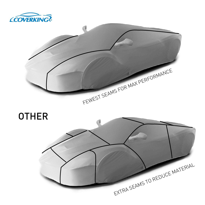 Satin Stretch Coverking Custom Fit Car Cover for Select Ferrari F430 Models Gray