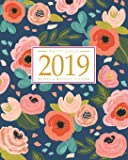 Image for 2019 Planner Weekly And Monthly: Calendar + Organizer | Inspirational Quotes And Navy Floral Cover | January 2019…
