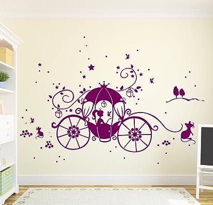 Wandtattoo-Welt Adhesivo Decorativo para Pared en carruaje Princesa  Cenicienta Estrellas Night Sky diseño de 5d5dfd5fb10b