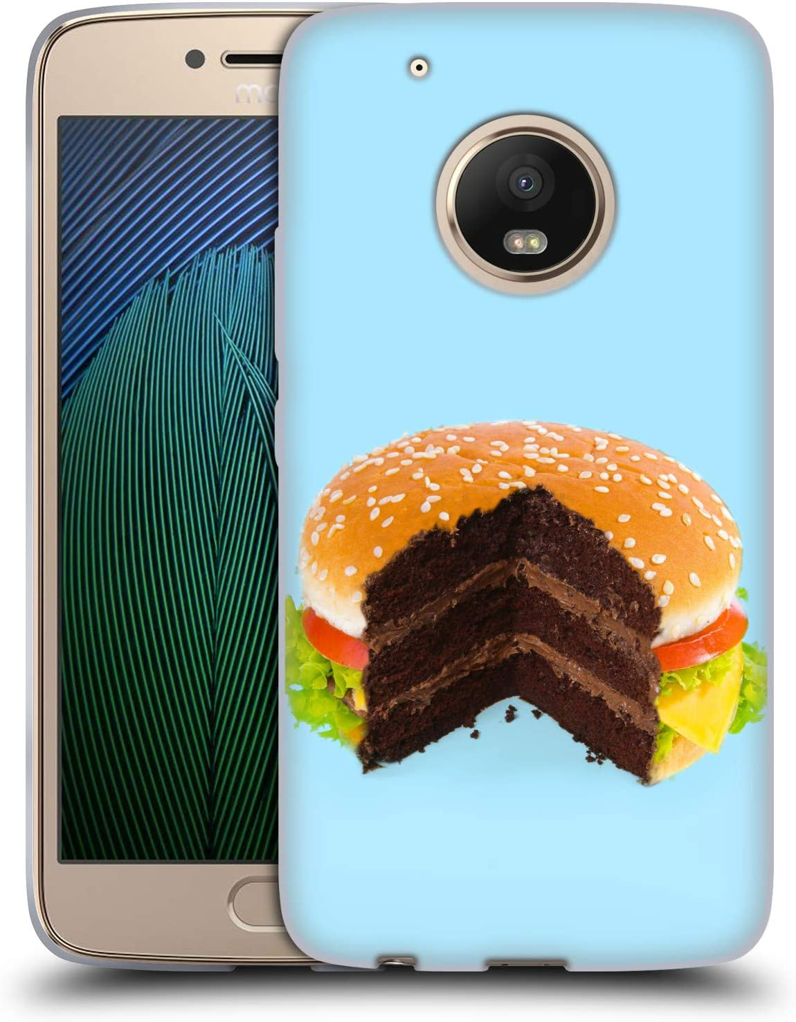 Head Case Designs Officially Licensed Paul Fuentes Hamburger Cake Junk Food Soft Gel Case Compatible with Motorola Moto G5 Plus