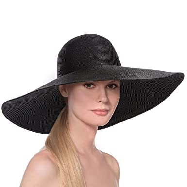 1e8b60a33 Amazon.com: Eric Javits Women's Floppy-Black, One Size: Clothing