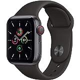 Apple Watch SE (GPS + Cellular, 40 mm) Caja de aluminio en gris espacial - Correa deportiva negra