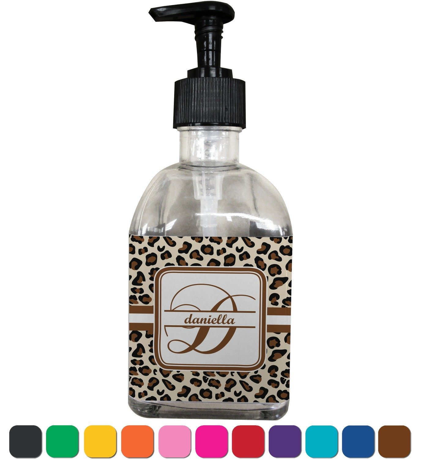 Amazon.com: Leopard Print Soap/Lotion Dispenser (Glass ...