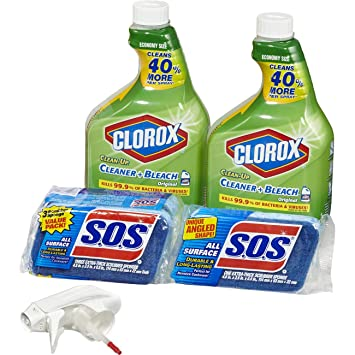 Amazon Com Clorox Clean Up Bleach Cleaner Spray And S O S All