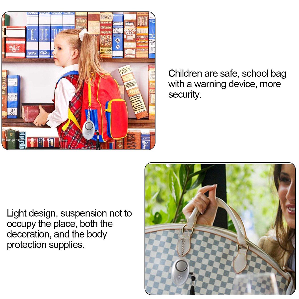 Emergency Mini Personal Alarm - Safe 120dB Self Personal Sound alarm kits & Emergency LED Flashlight,Emergency Personal Alarm Keychain Self Defense for Women Girls Kids,Alarm Noise to Scare Attackers