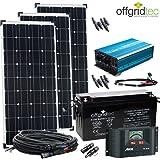 12V Solaranlage Autark XL-Master 300W Solar - 1500Wp AC Leistung 12V 230V - Inselanlage - Solarset