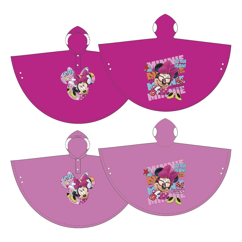 Disney Minnie Maus Poncho Regenponcho Kinderponcho Regenjacke Regenmantel Kinderregenjacke (2 Jahre, Pink) Familie24