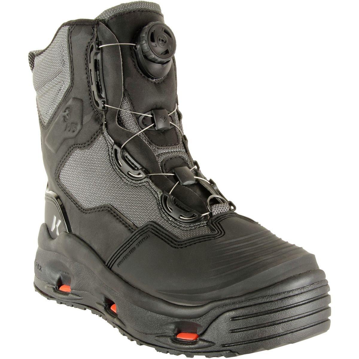 全国宅配無料 Korkers DarkHorse 8 釣り用ブーツ フェルトソールとKling-Onソール付き 8 Korkers グレー/ブルー 釣り用ブーツ B01MU192MT, たかはしきもの工房:d1f1a73e --- a0267596.xsph.ru