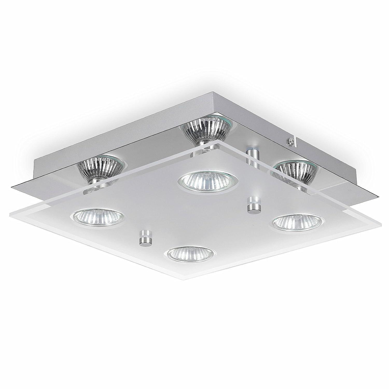 Romke square ceiling light4 way led ceiling light gu10 fittingmodern acrylic glassgu10 ceiling spotlight ceiling kitchen lightskitchen fitting gu10 lamp