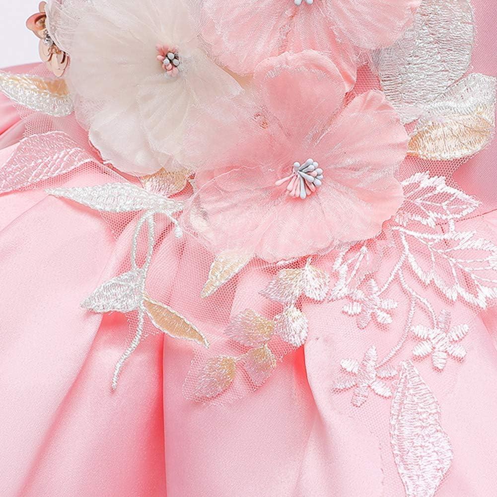 OwlFay Vestito da Principessa Bambina Ragazze Pizzo di Tulle Tutu Abiti Eleganti Festa Festa Carnevale Cocktail Prom Abito 12Mesi-9Anni