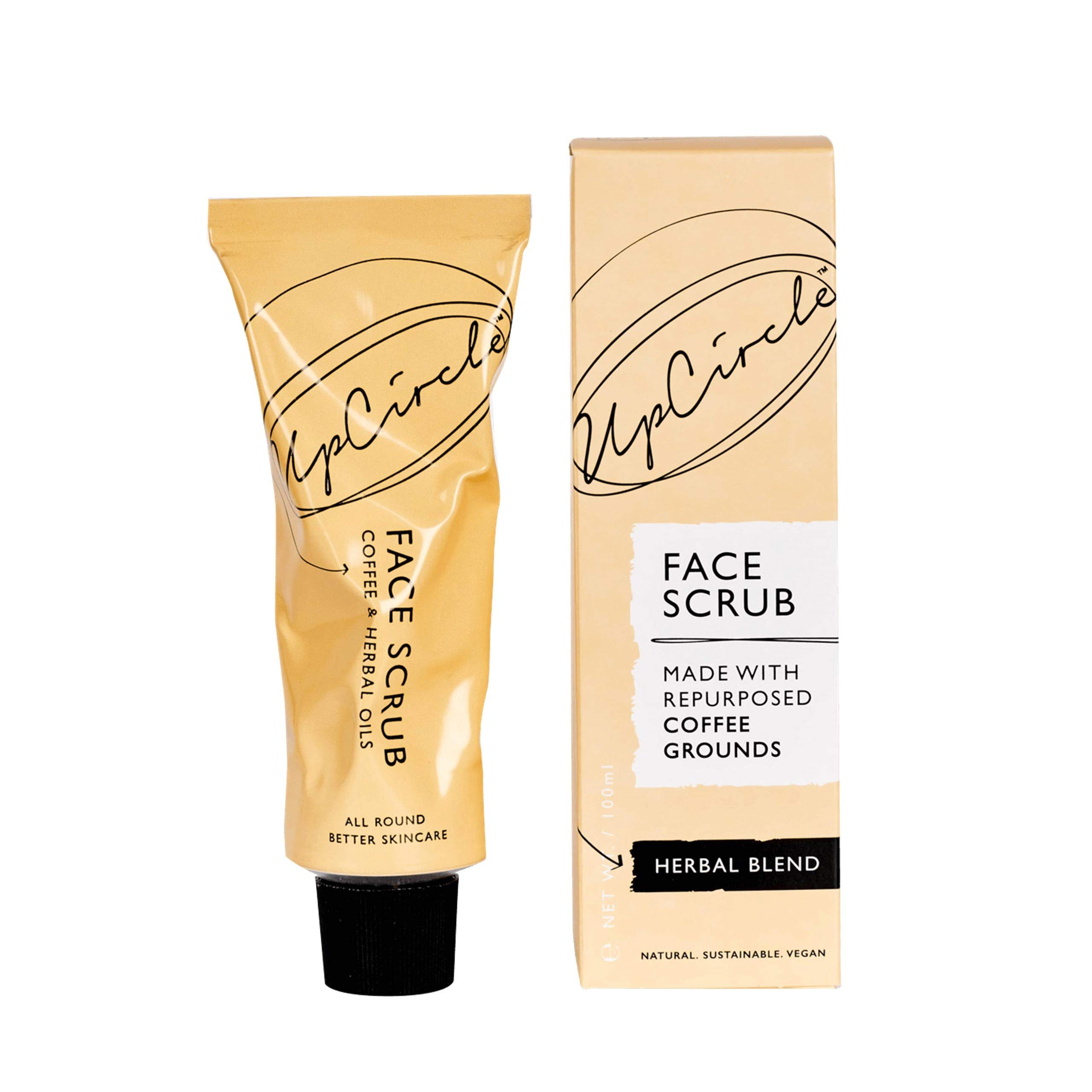 UpCircle Coffee Face Scrub - Herbal Blend For Oily Combination Skin 100ml