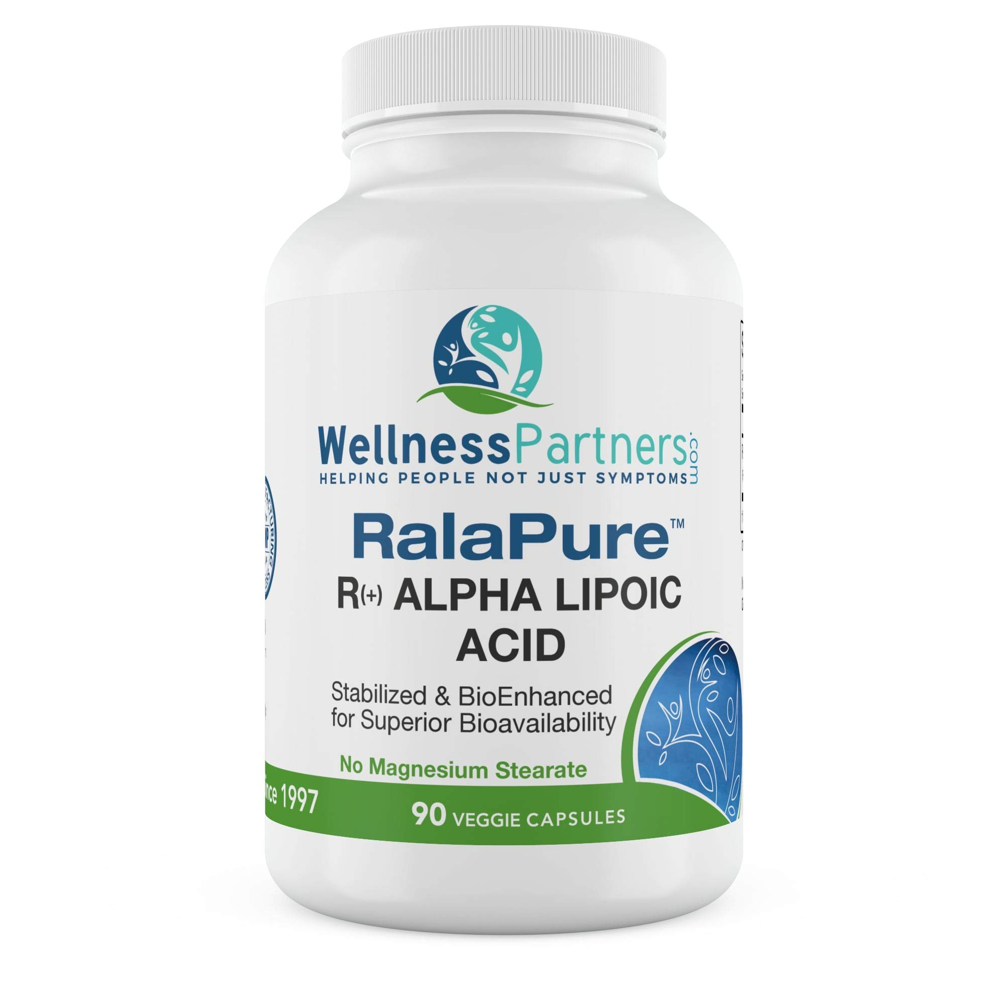 RalaPure Stabilized R-alpha Lipoic Acid - ALA up to a 30 Day Supply by WellnessPartners