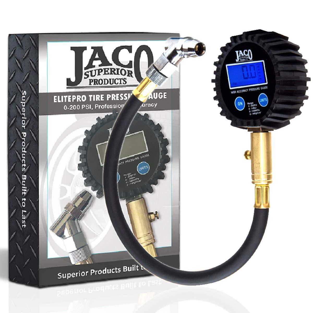 JACO ElitePro Digital Tire Pressure Gauge - Professional Accuracy - 200 PSI