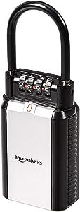 AmazonBasics Portable Key Storage Box - Combination Lock - Black