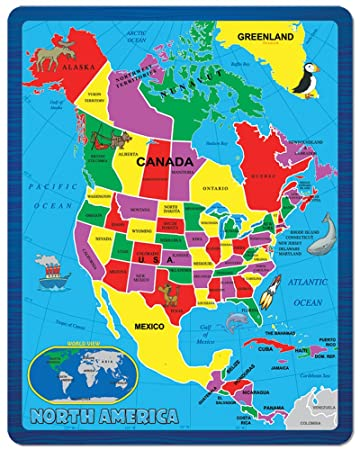 map of north america continent