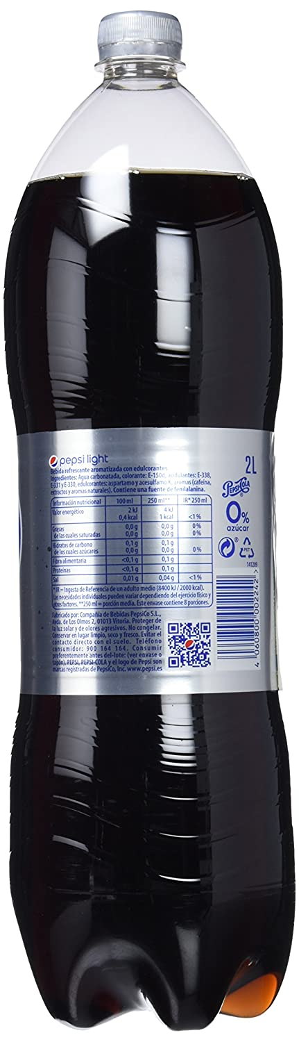 Pepsi Light Refresco de Cola sin Calorías - Paquete de 4 x 2000 ml - Total: 8000 ml: Amazon.es: Amazon Pantry